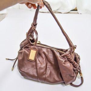 Badgley Mischka Bags - Badgley Mischka Dark Brown Leather Purse Bag